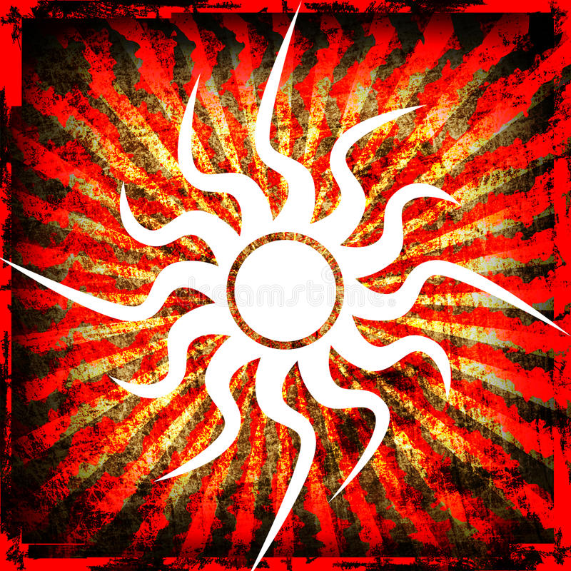 Sun Grunge Background Royalty Free Stock Image