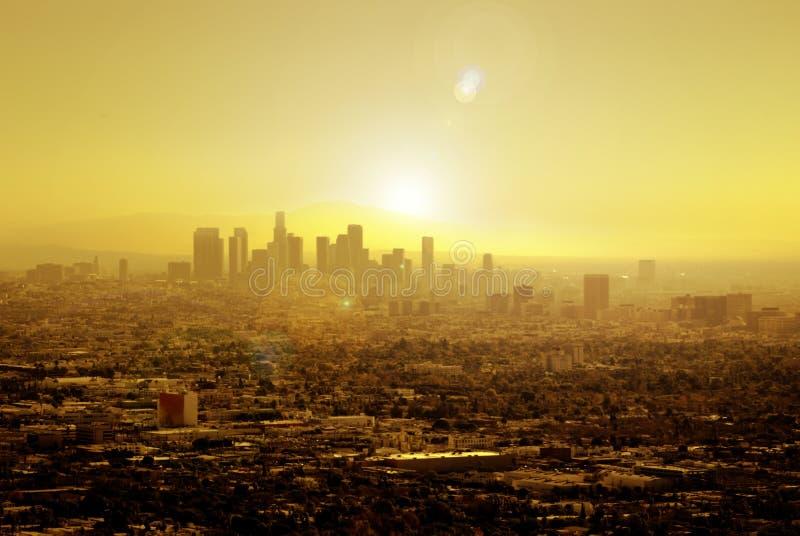 Sun ha impregnato Los Angeles fotografie stock
