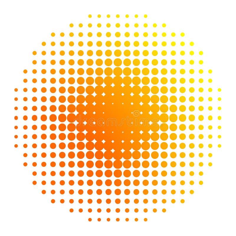 Sun-Halbtonbild lizenzfreie abbildung