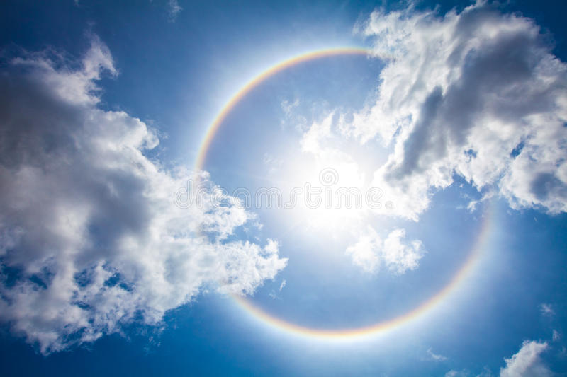 The sun halo royalty free stock photo