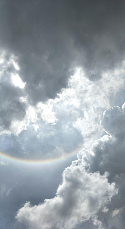 The Sun halo, słońce korona słoneczna obraz stock