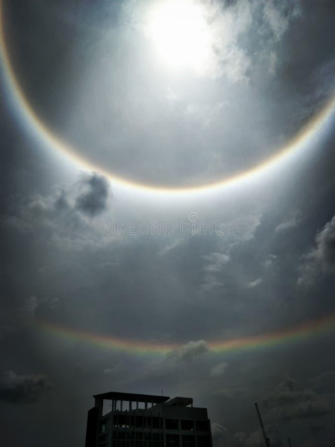 The Sun halo, słońce korona słoneczna obrazy royalty free