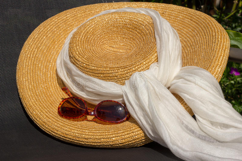 Sun Hat and Glasses royalty free stock photo