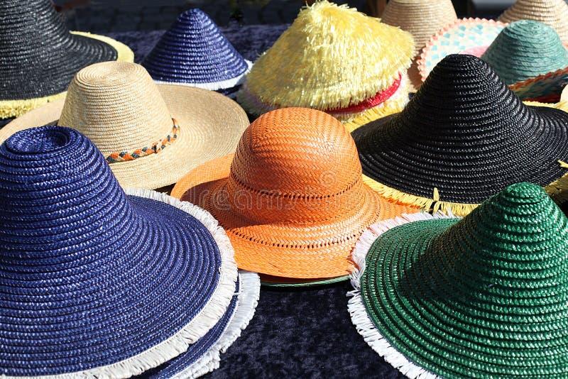 Sun hats stock photography