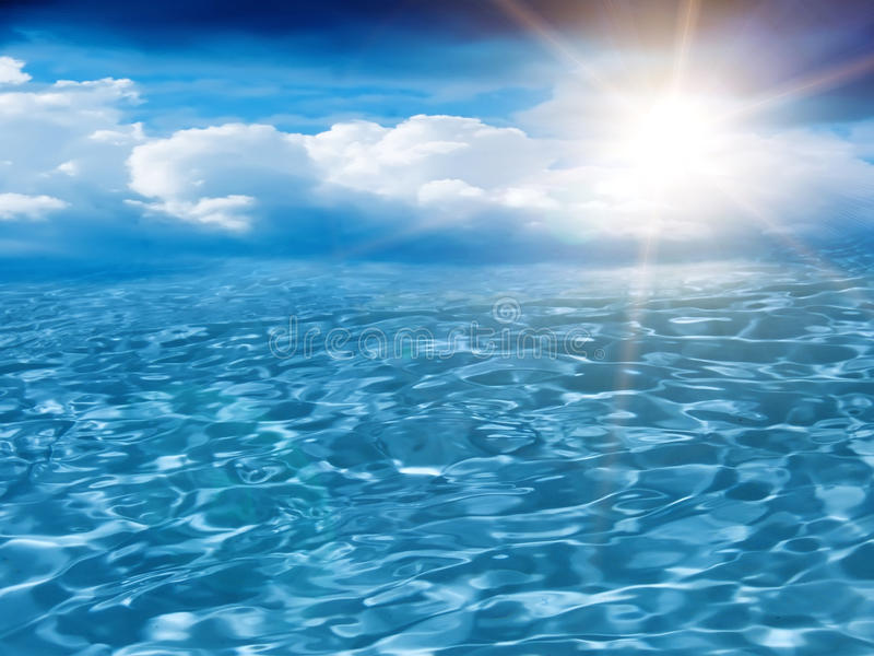 Sun-Himmel bewölkt Meer lizenzfreie stockfotografie