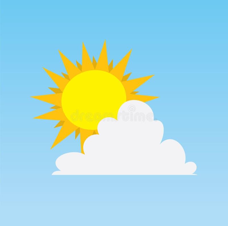 Sun hinter Wolke lizenzfreie abbildung