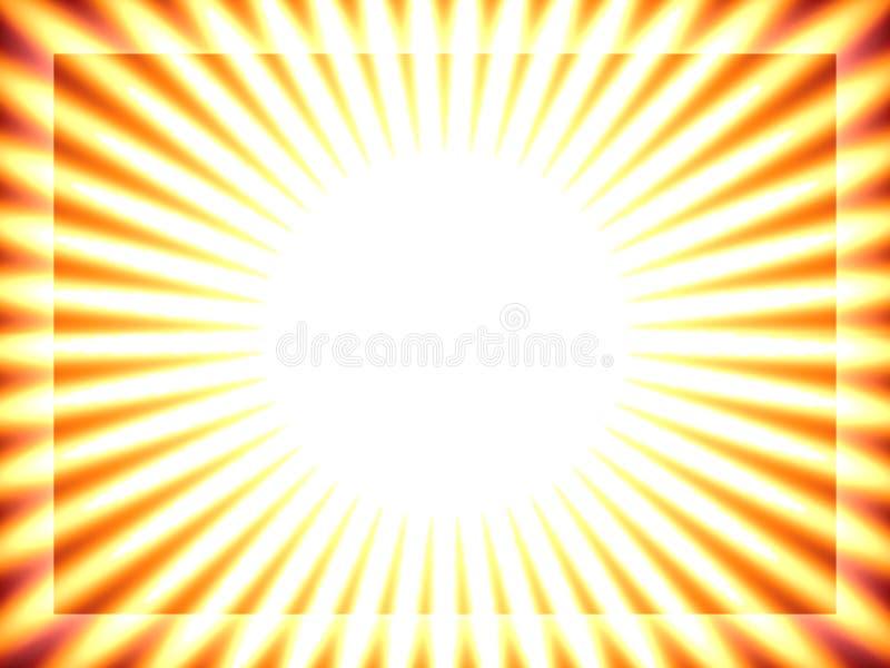 Sun-Hintergrund, gelbe Streifen stock abbildung