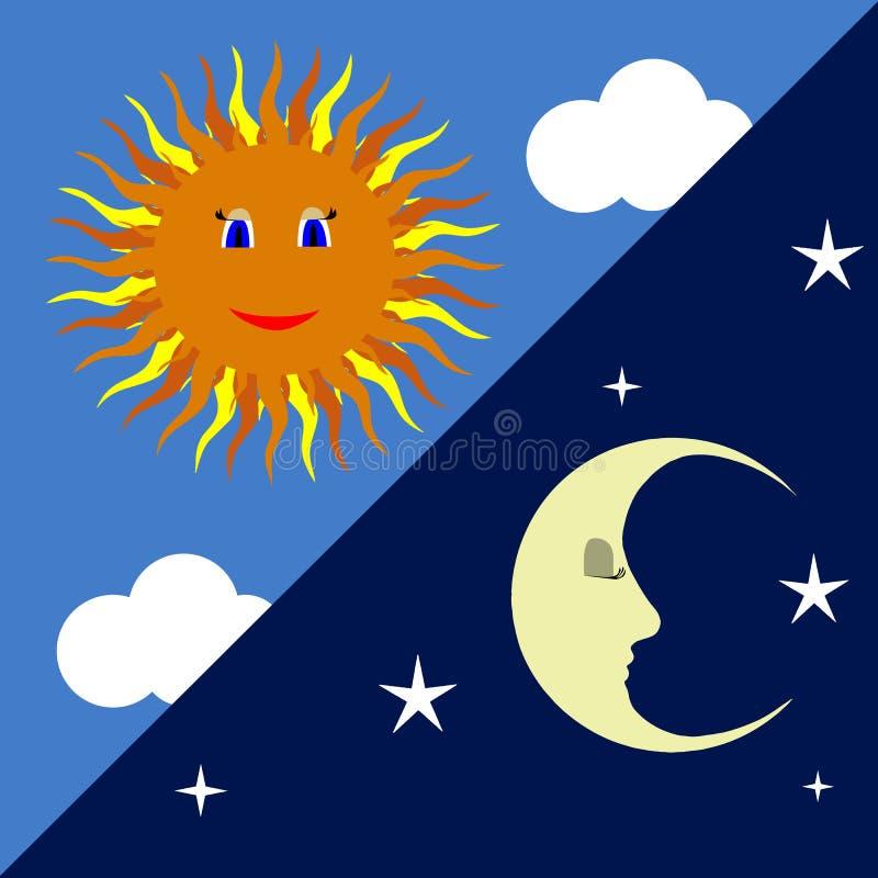 Sun i księżyc obraz stock