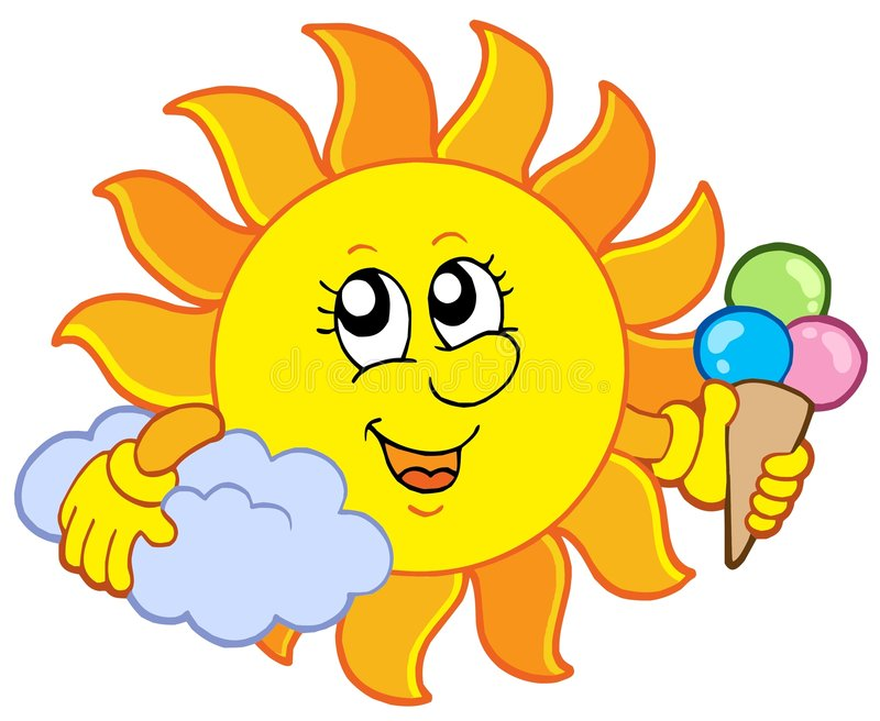 Download Sun with icecream stock vector. Illustration of bright - 7819600