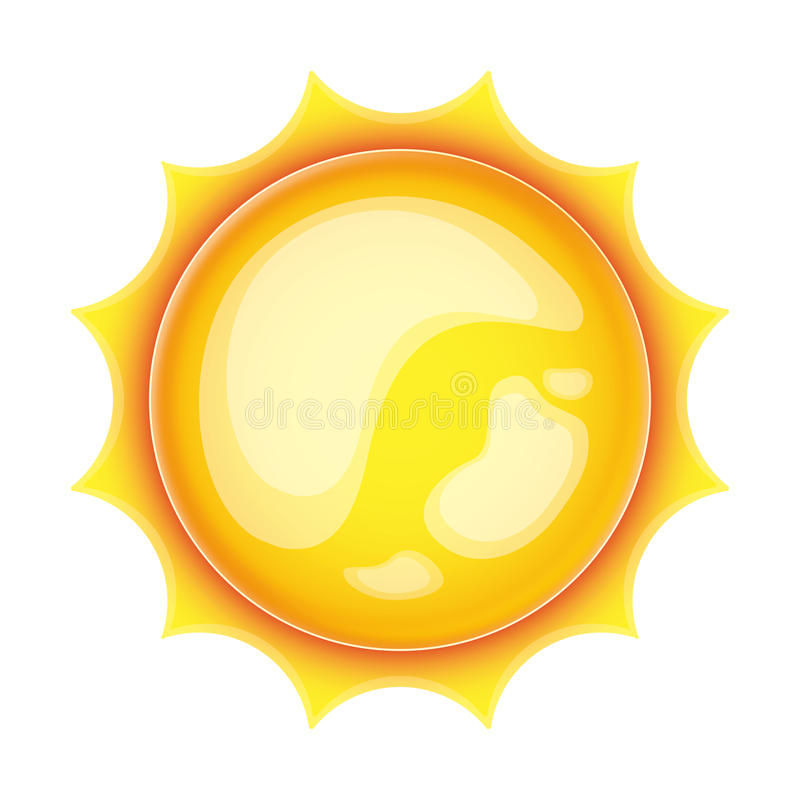 Download Sun icon stock illustration. Image of burn, summer, temperature - 25453700