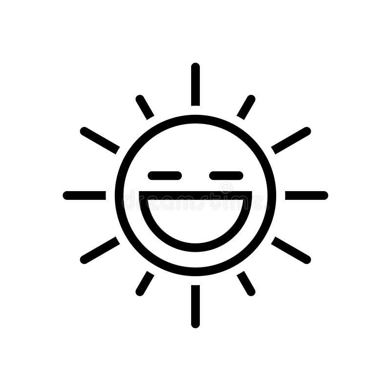 Sun Icon. Black thin line sun icon isolated on white vector illustration