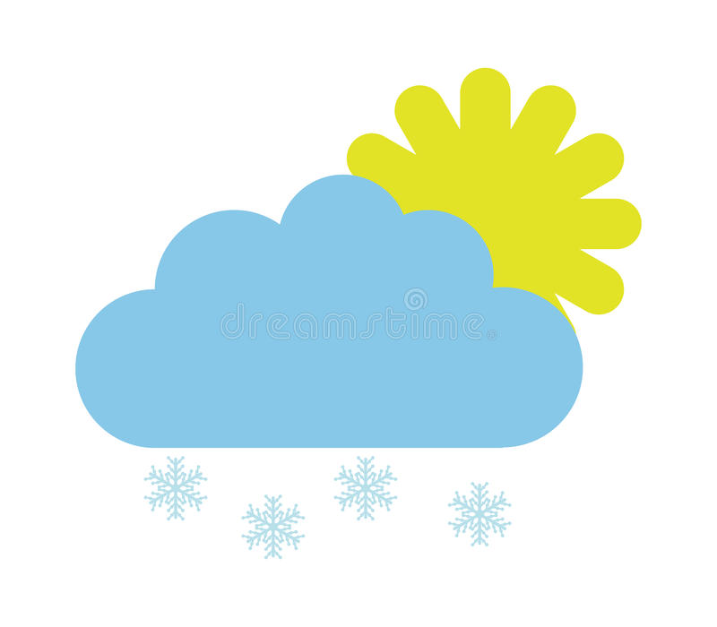 Download Sun Icon With Clouds And Snow Stock Illustration - Image: 83724218