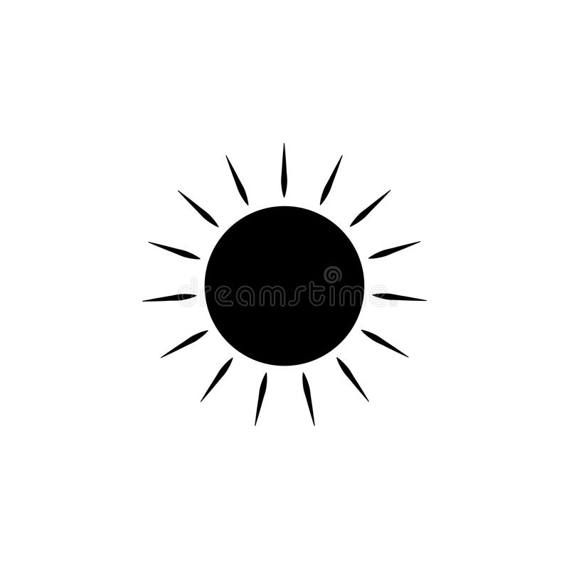 The sun icon. Element of web icons. Premium quality graphic design icon. Signs and symbols collection icon for websites, web desig. N, mobile app on white royalty free illustration
