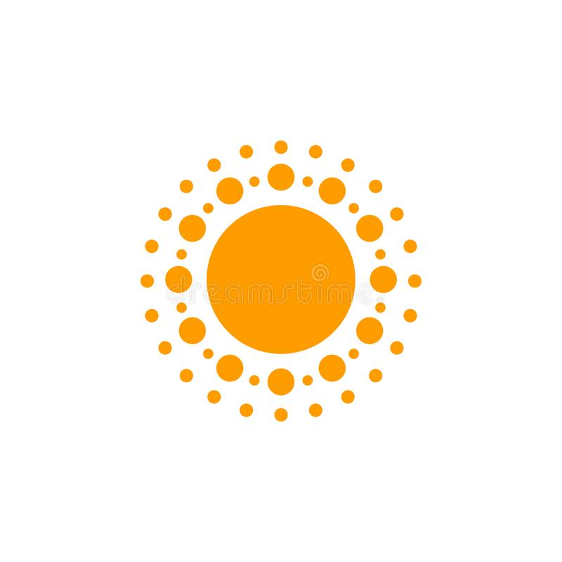 Sun Icon Iet. Sun Collection logo icon Vector. EPS10 royalty free stock images