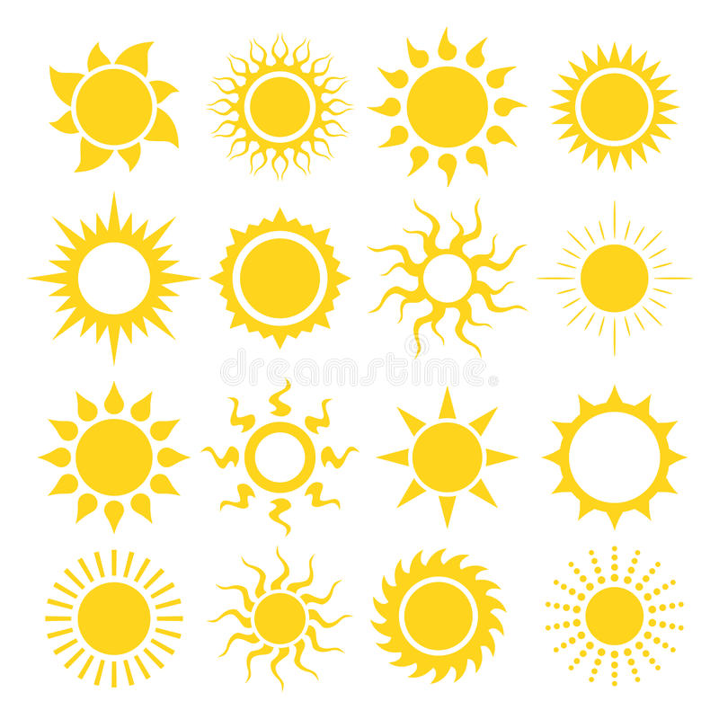Free Sun Icon Set Royalty Free Stock Image - 50989256
