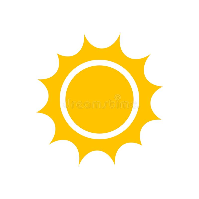 Sun icon,  clipart. For graphic and web design royalty free illustration