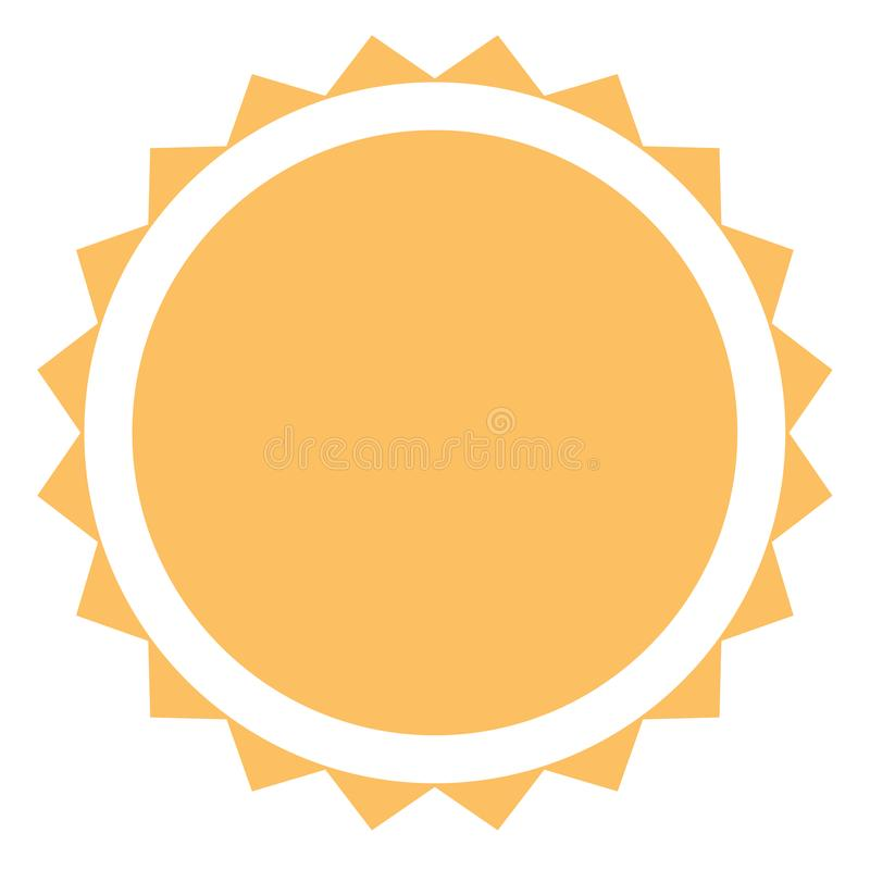 Sun icon on white background. flat style. sun icon for your web stock illustration