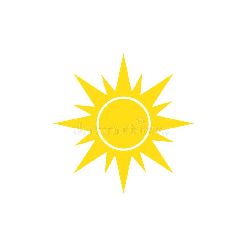 Sun icon on white background for graphic and web design, Modern simple vector sign. Internet concept royalty free illustration