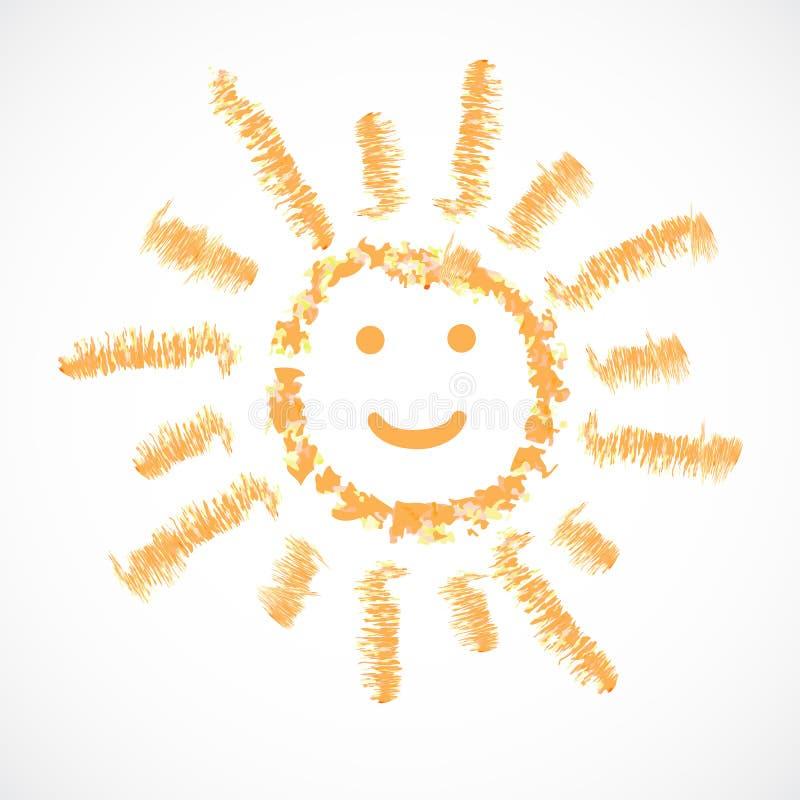 Sun, icona del tempo. Illustrazione ENV 10 di vettore illustrazione di stock