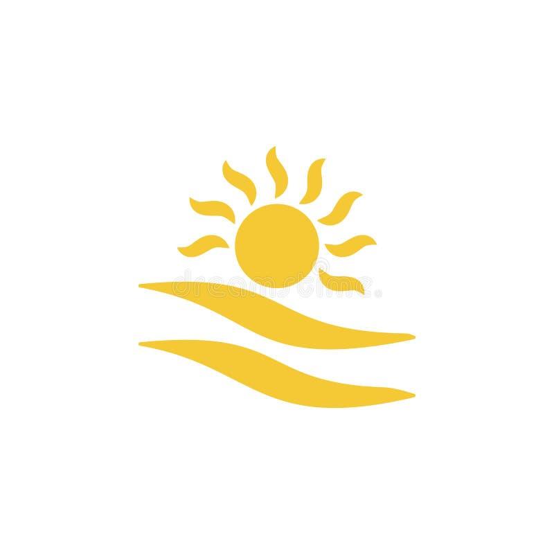 Sun, icono de la nube - vector Concepto simple del verano del ejemplo del elemento Sun, icono de la nube - vector Ejemplo del vec stock de ilustración