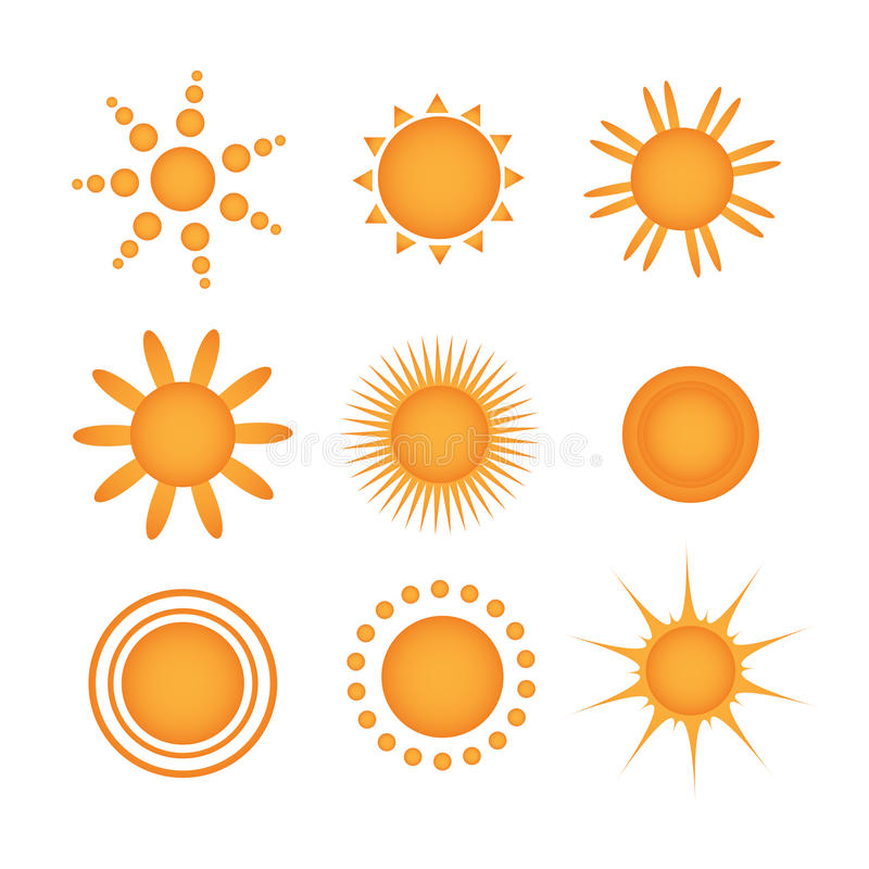 Sun icons vector illustration