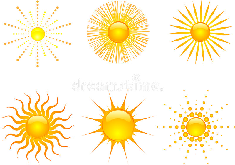 Download Sun icons stock illustration. Image of object, symbol - 5314323