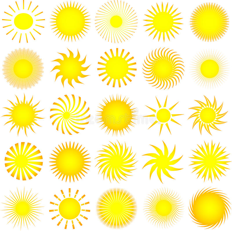 Download Sun icons stock vector. Image of background, icon, vector - 9758172