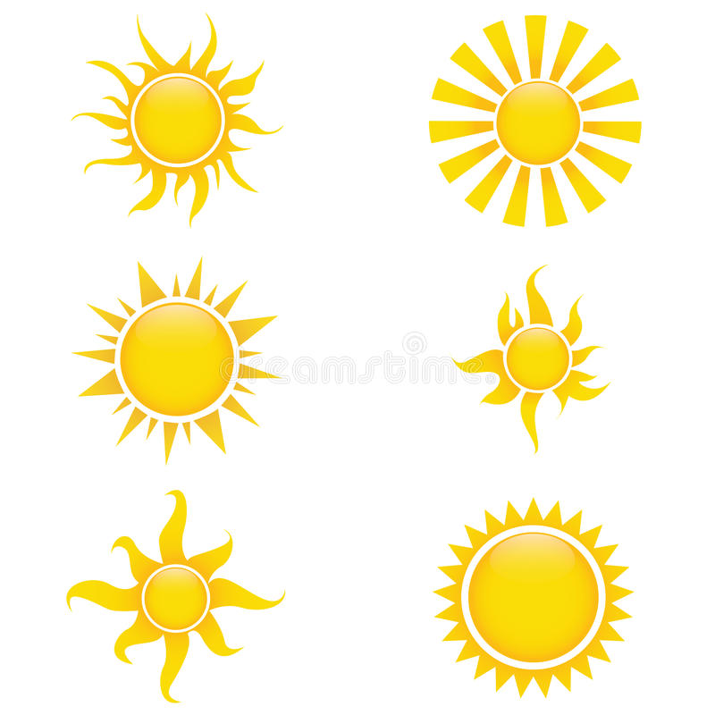 Download Sun icons stock vector. Illustration of shape, natural - 32401291