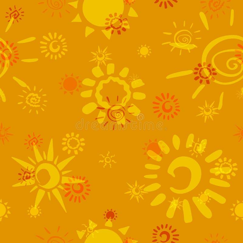 Sun Icons Stock Photo