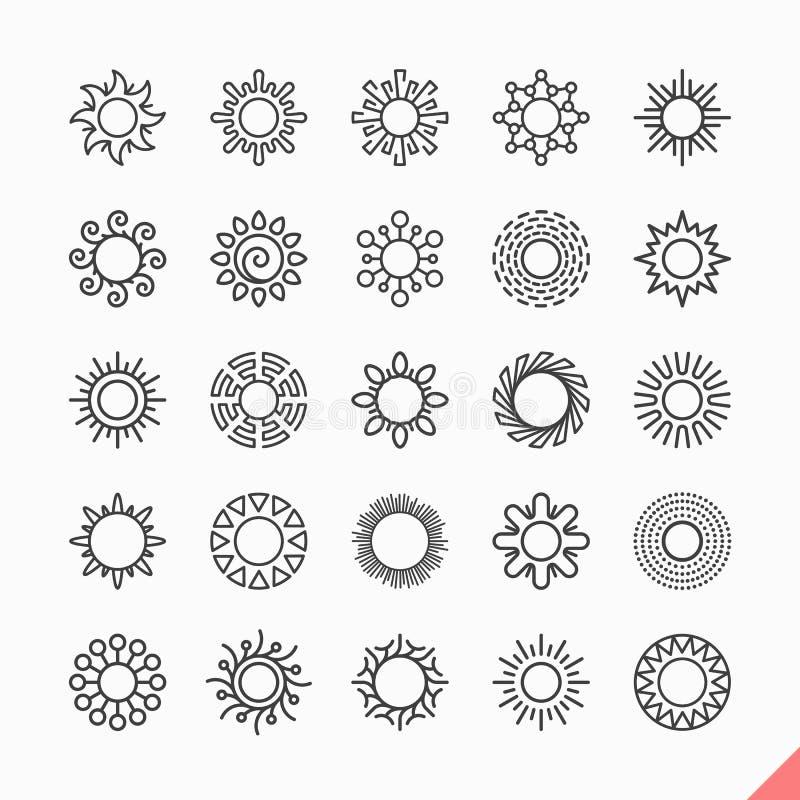 Sun icons stock illustration