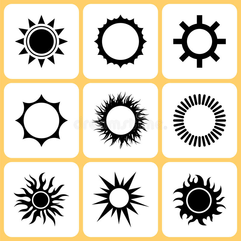 Download Sun icons stock vector. Image of icons, drawing, design - 30903981