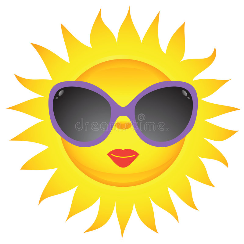 Free Sun Icons. Vector Illustration Royalty Free Stock Image - 8786216