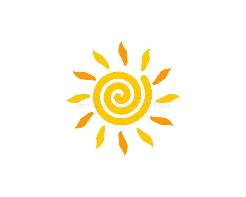 Sun-Ikone Logo Design Element vektor abbildung