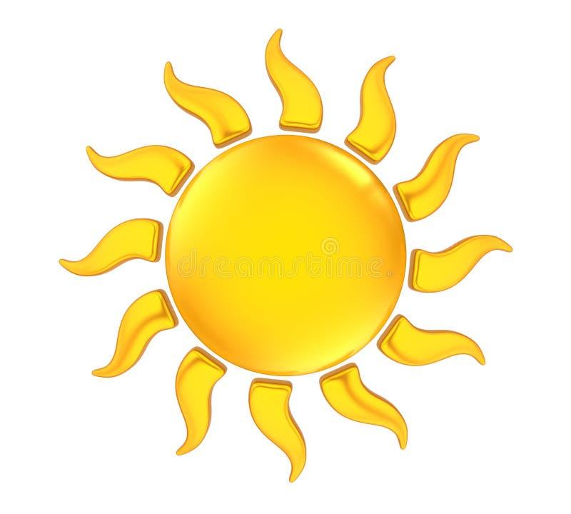 Sun-Ikone lokalisiert vektor abbildung
