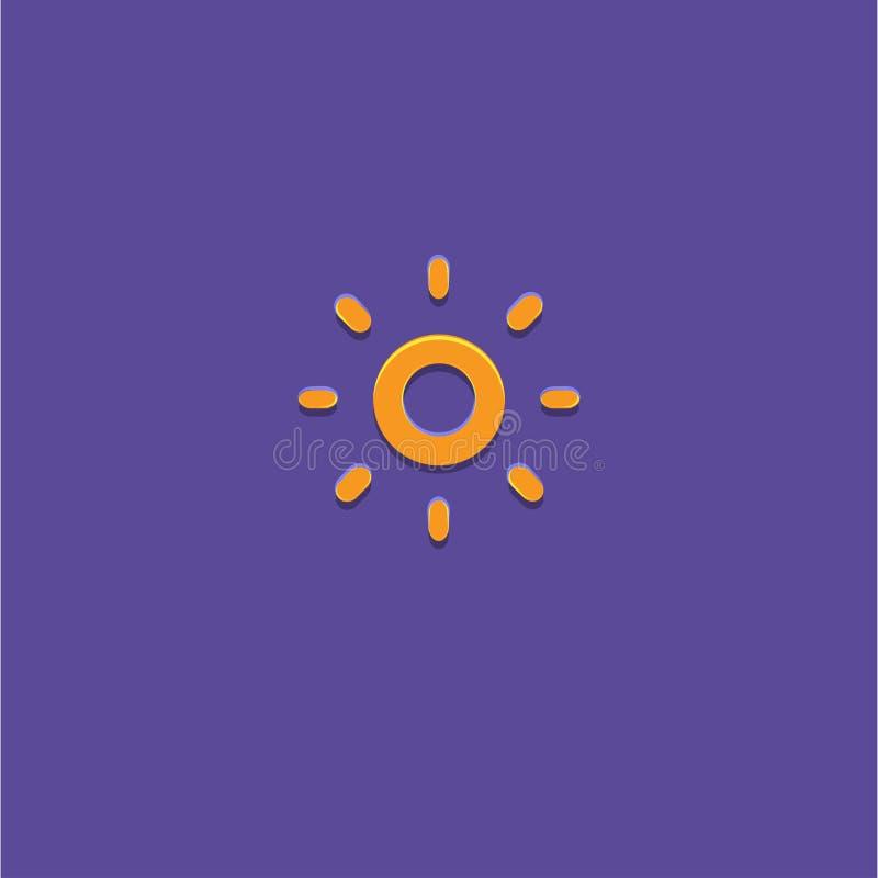 Sun-Ikonen-Vektor-Illustration lizenzfreie stockfotos