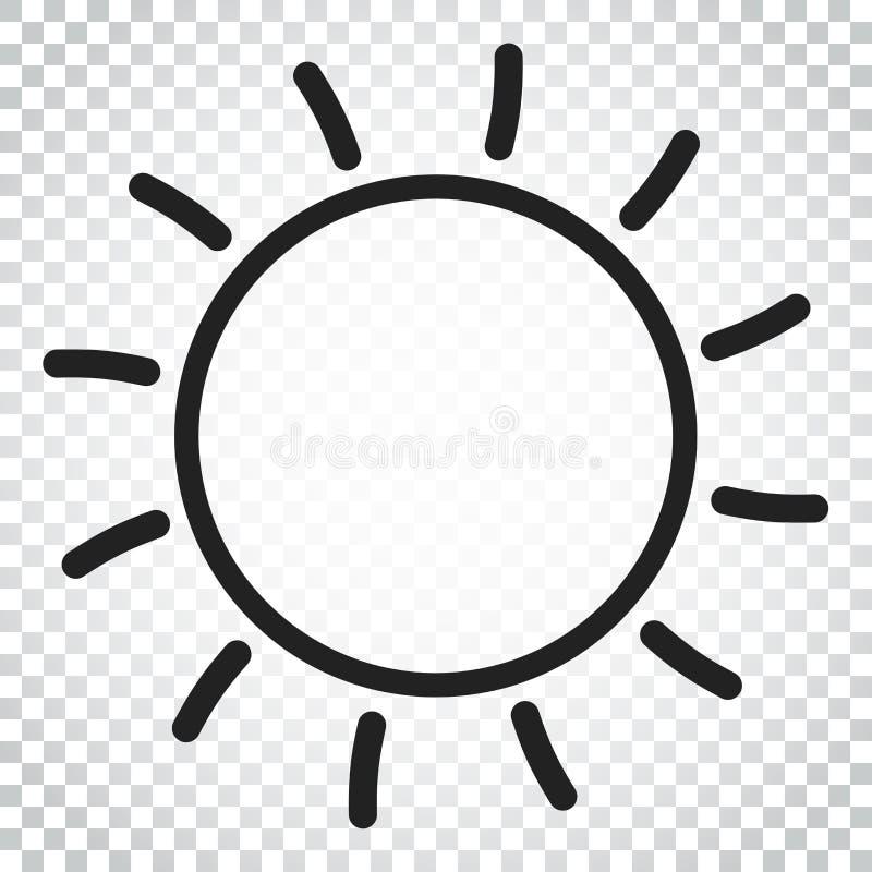 Download Sun-Ikonen-Vektor-Illustration Sun Mit Strahlnsymbol Einfaches Busine Vektor Abbildung - Illustration von strahl, sonne: 96935853