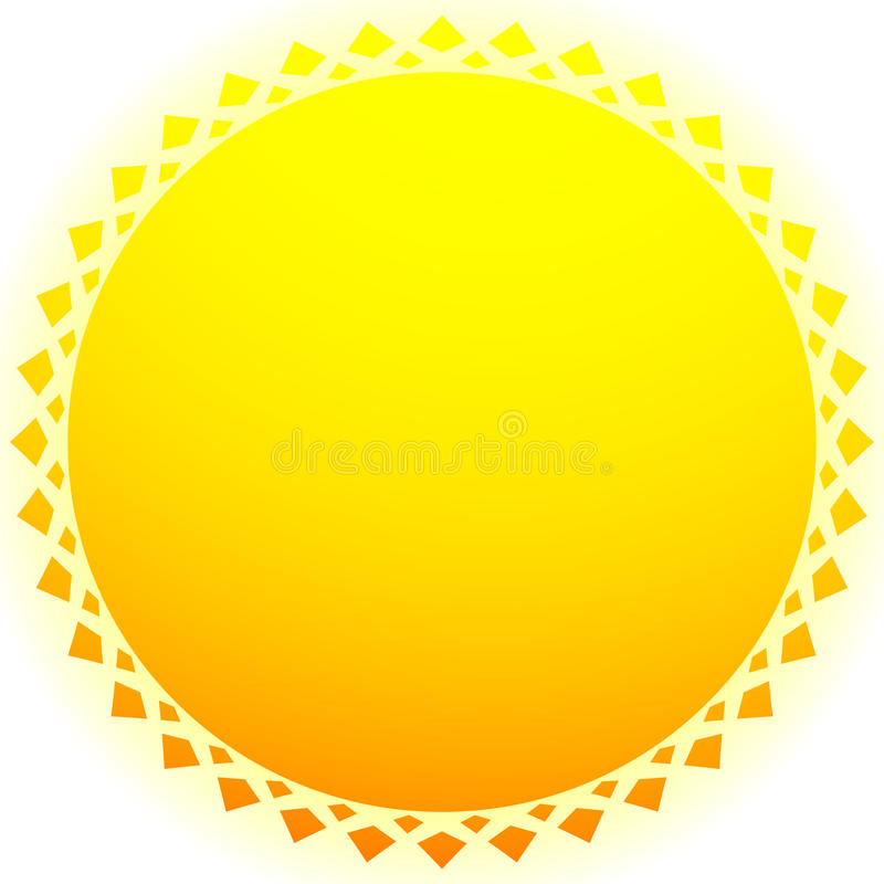 Sun illustration, sun clip-art for nature, sunlight, summer concepts. Royalty free vector illustration vector illustration