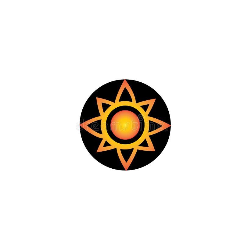 sun  ilustration logo vector template stock illustration