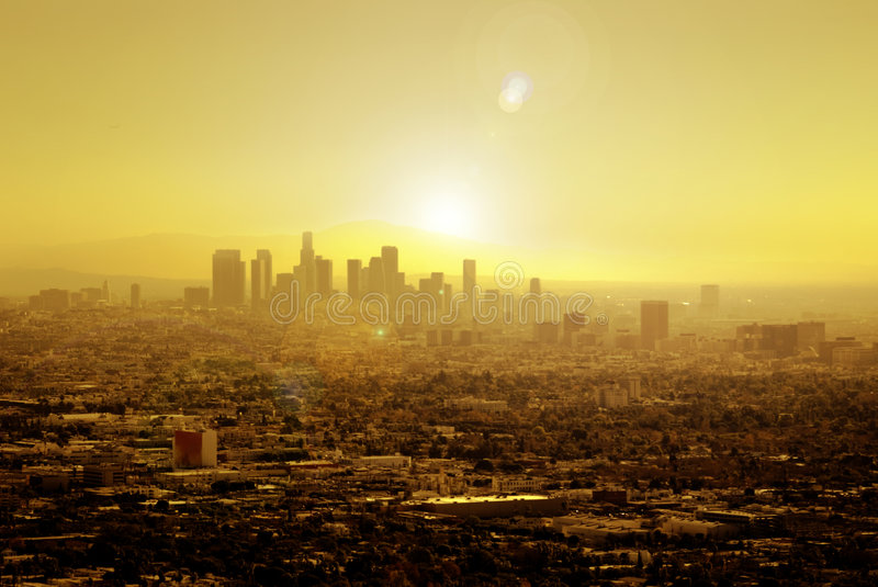 Sun a imbibé Los Angeles photos stock