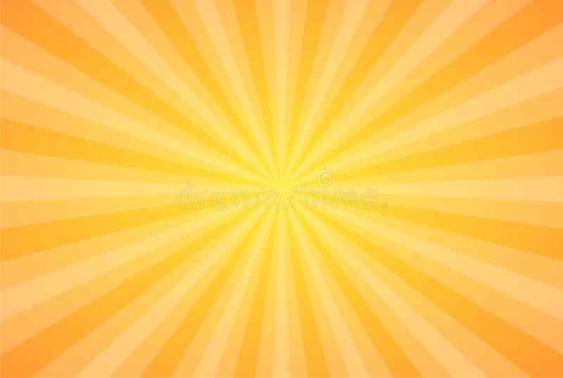 Sun irradia a ilustração do vetor Irradia o fundo Papel de parede do sumário do tema do raio de Sun Elementos do projeto no estil ilustração royalty free
