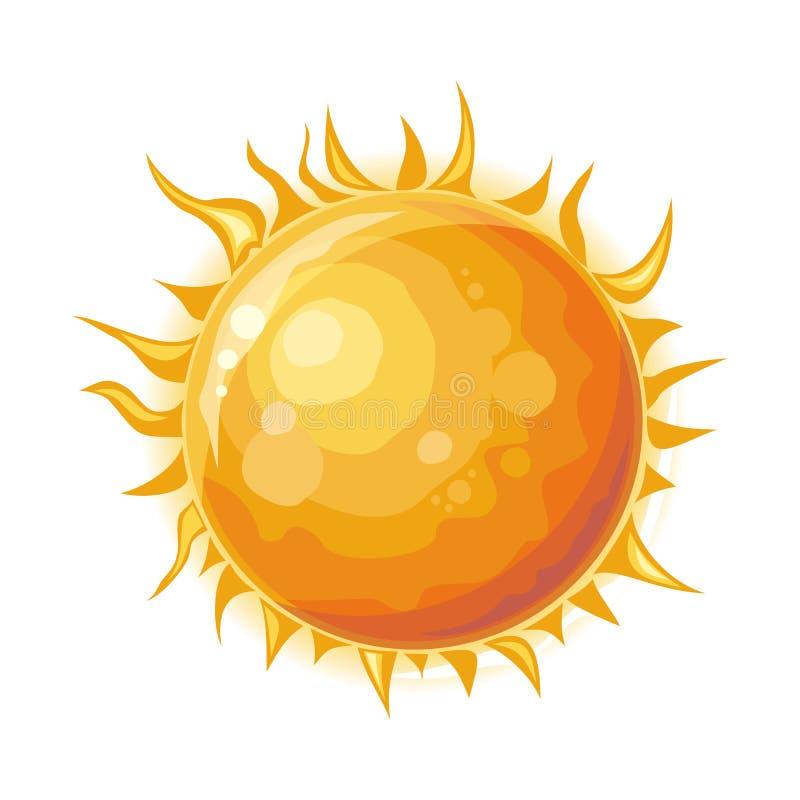 Sun a isolé Étoile au centre du système solaire illustration libre de droits