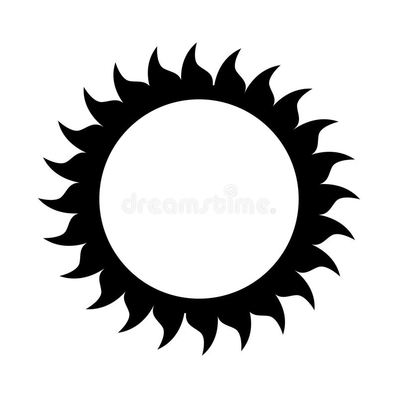 sun isolated icon design royalty free stock images