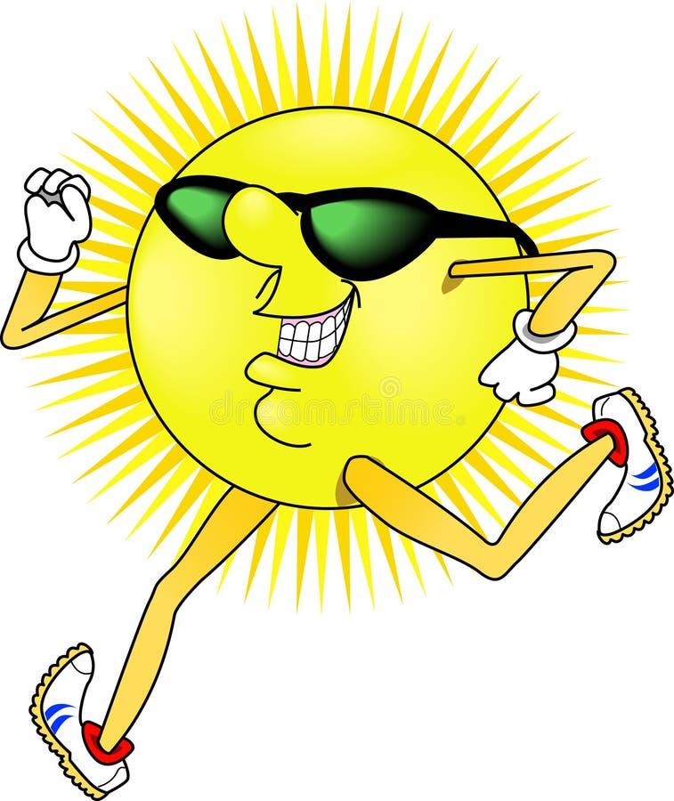 Sun_jogging. Raster graphic depicting an outdoor Summer activity: Jogging vector illustration