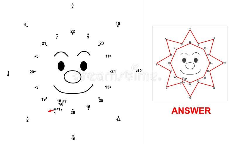 Sun - juego del punto ilustración del vector