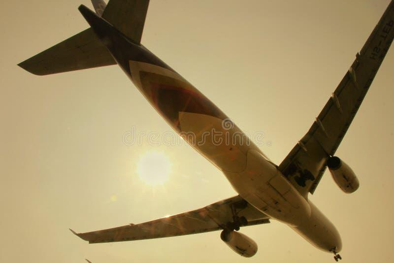 Sun kissed the Thai airways royalty free stock photos