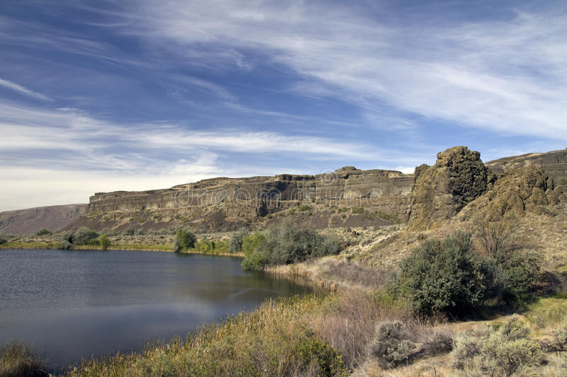 Sun Lakes Dry Falls State Park, Washington State royalty free stock photo