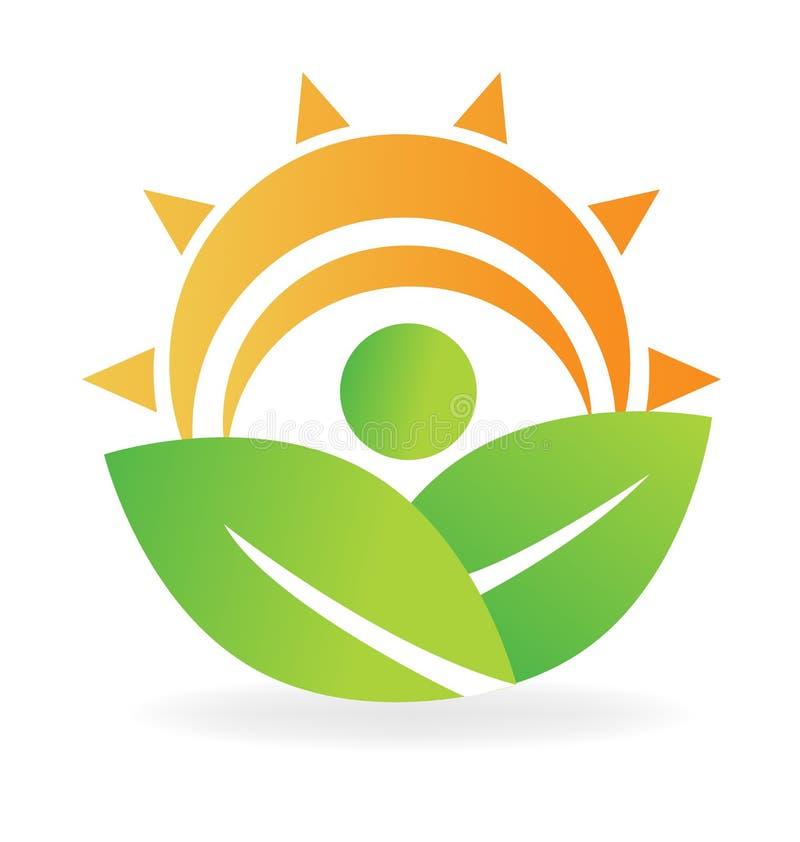 Sun leafs design royalty free illustration