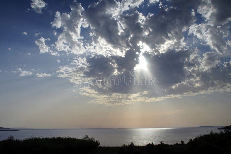 Sun light stock image