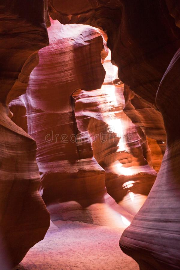 The inner view of Upper antelope canyon in america royalty free stock image