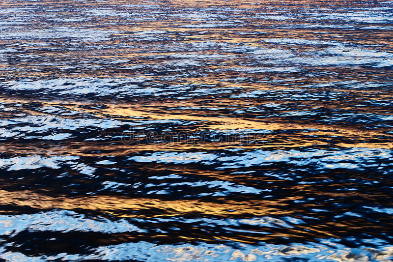 Sun light reflection on the water. stock images